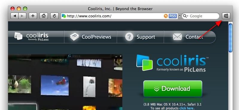 Coorilis PicLens для Safari