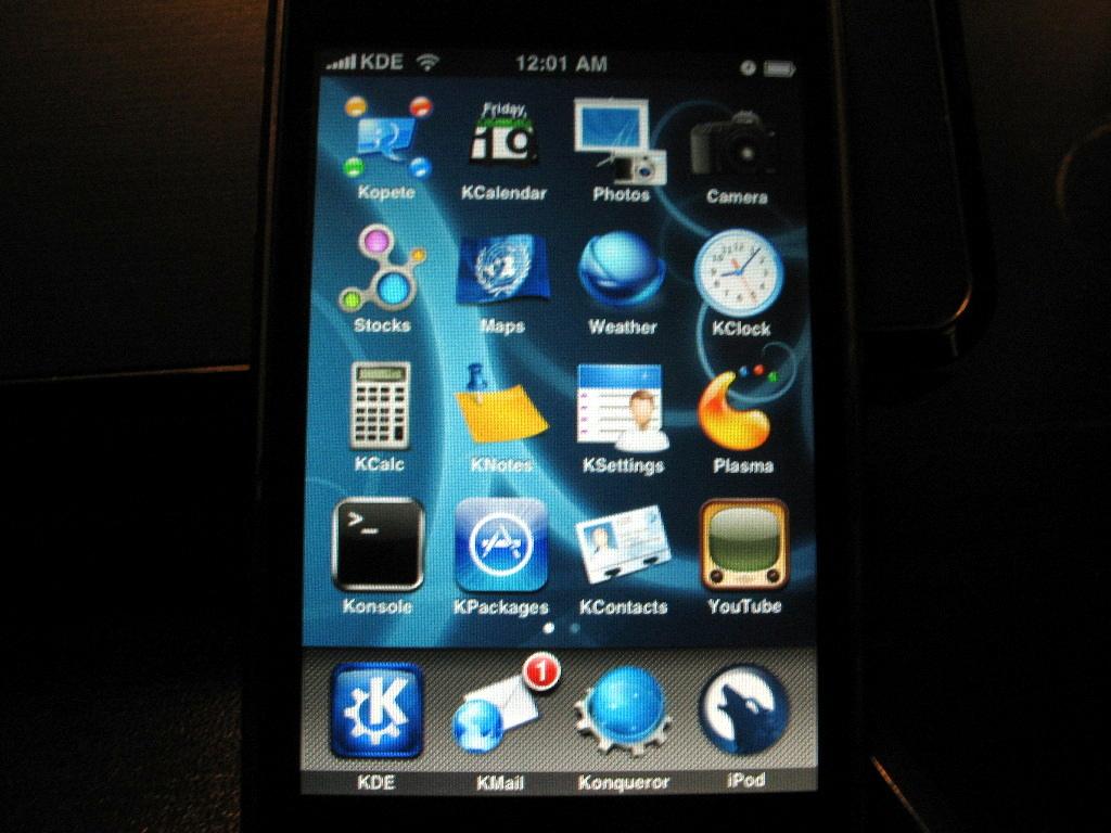 Тема KDE для iPhone
