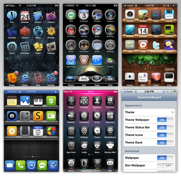 Пример тем для iPhone