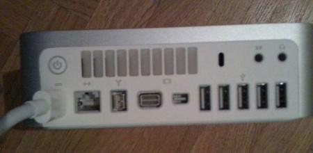 Новый Mac mini: вид сзади