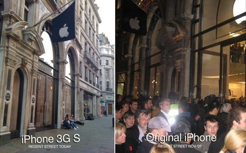 Начало продаж iPhone 3G S в Лондоне