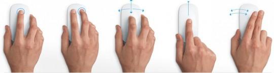 Мультитач жесты Apple Magic Mouse