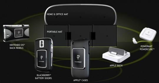 Беспроводной зарядник Powermat для iPhone и iPod