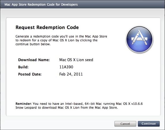 Mac App Store Redeem